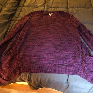 LOGO, Lori Goldstein Sweater, V-Shaped W/ pockets